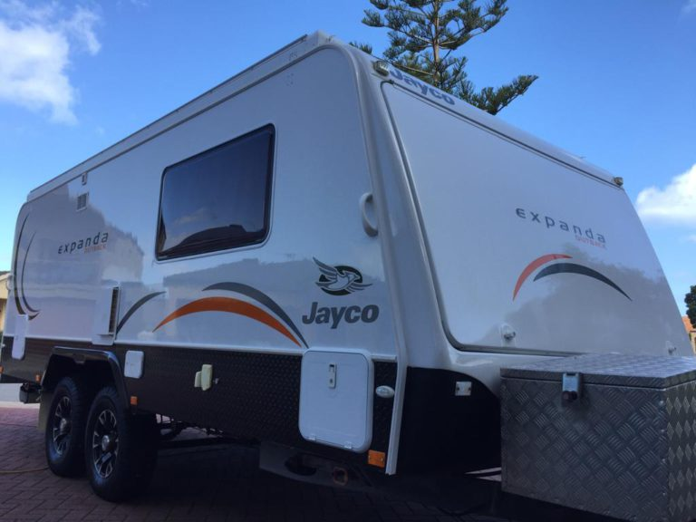 Polished and Detailed Caravan - Caravan Detailing Perth
