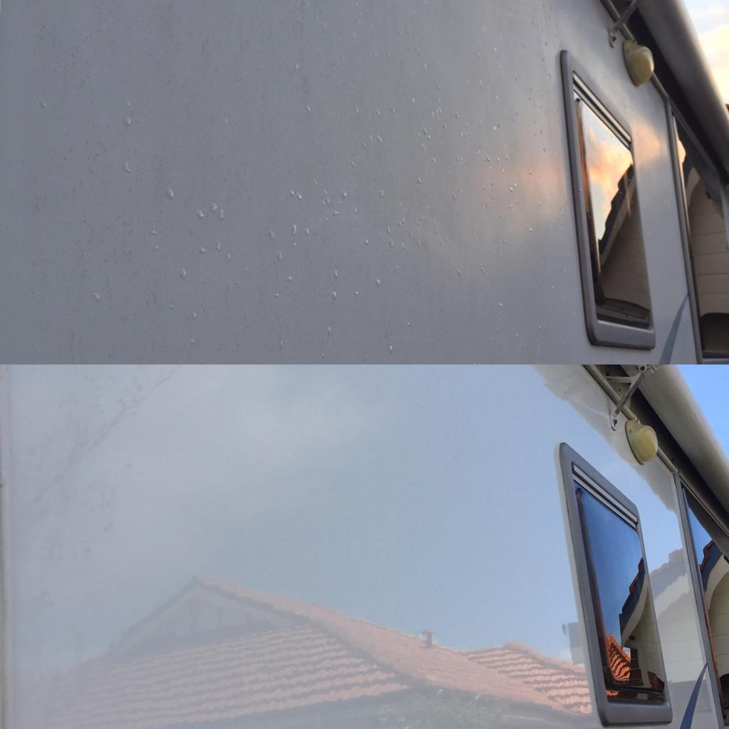 caravan detailing Perth - Wet Shine Polish - Eco Amigo