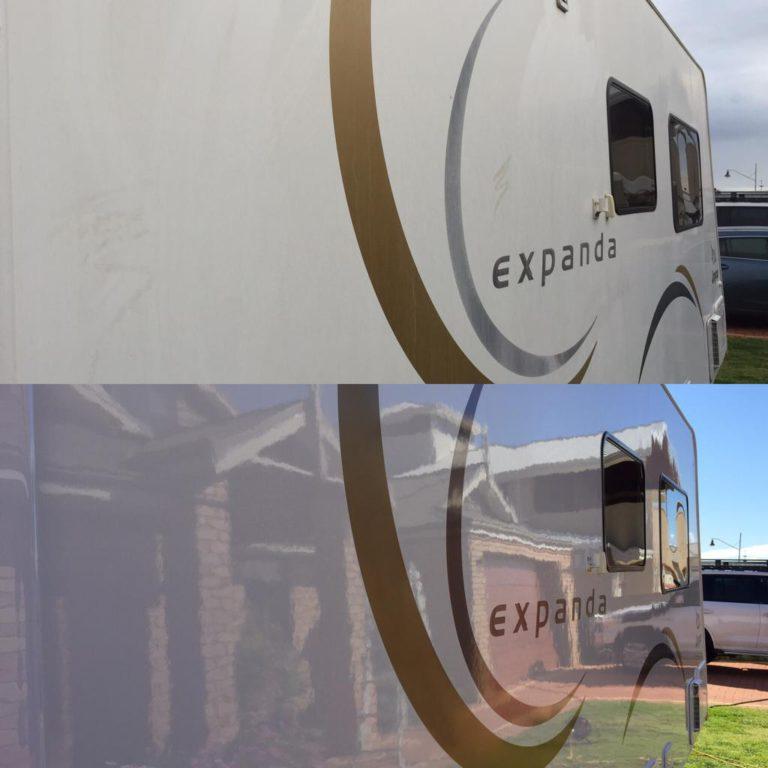 Polished Caravan - Caravan Detailing Perth - Eco Amigo