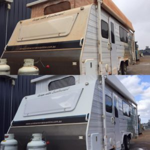 dirty caravan before and after