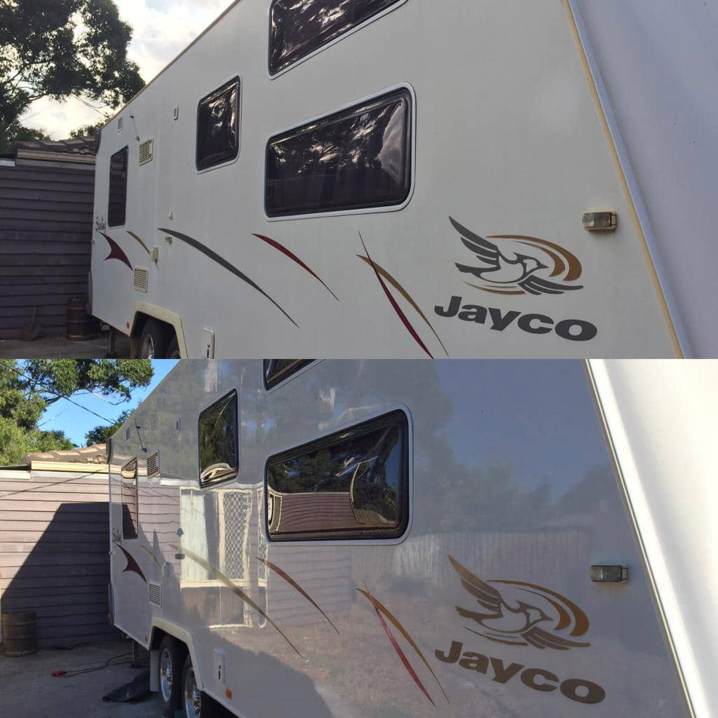 Caravan Detailing in Perth - Before and After